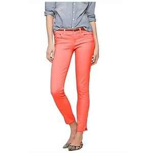 J. Crew Garment Dyed Ankle Zip Toothpick Jean 28